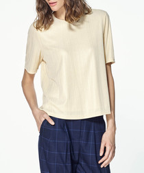 Gold-tone short sleeve shirt