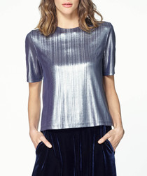 Silver-tone short sleeve shirt