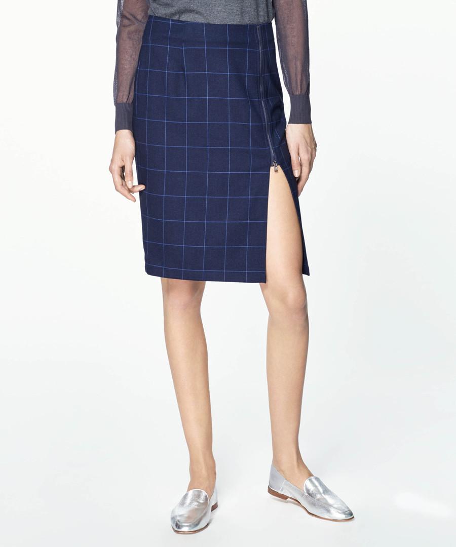 Multi checked midi skirt Sale - paisie