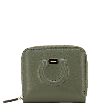 9c917f707edb Green leather emboss zip coin purse Sale - SALVATORE FERRAGAMO Sale