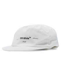 Off-white pure cotton logo baseball cap