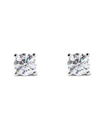 0.33ct diamond & 18k white gold studs