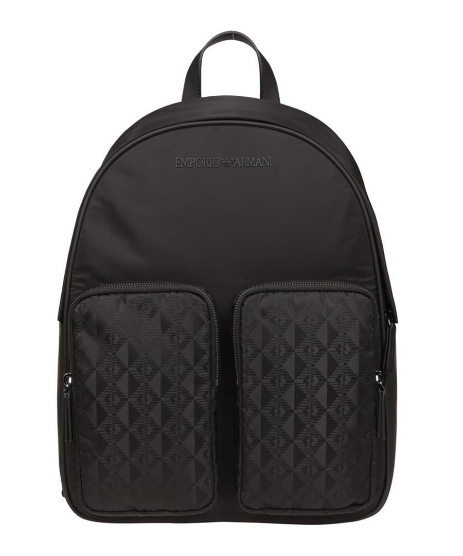 Black pocket jacquard backpack Sale - EMPORIO ARMANI