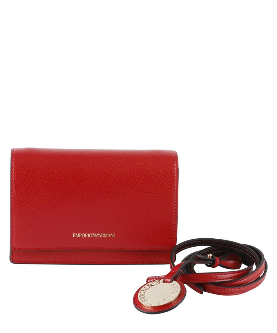 Minidollaro red grained crossbody bag Sale - EMPORIO ARMANI