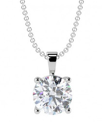 0.5ct diamond & 18k white gold pendant