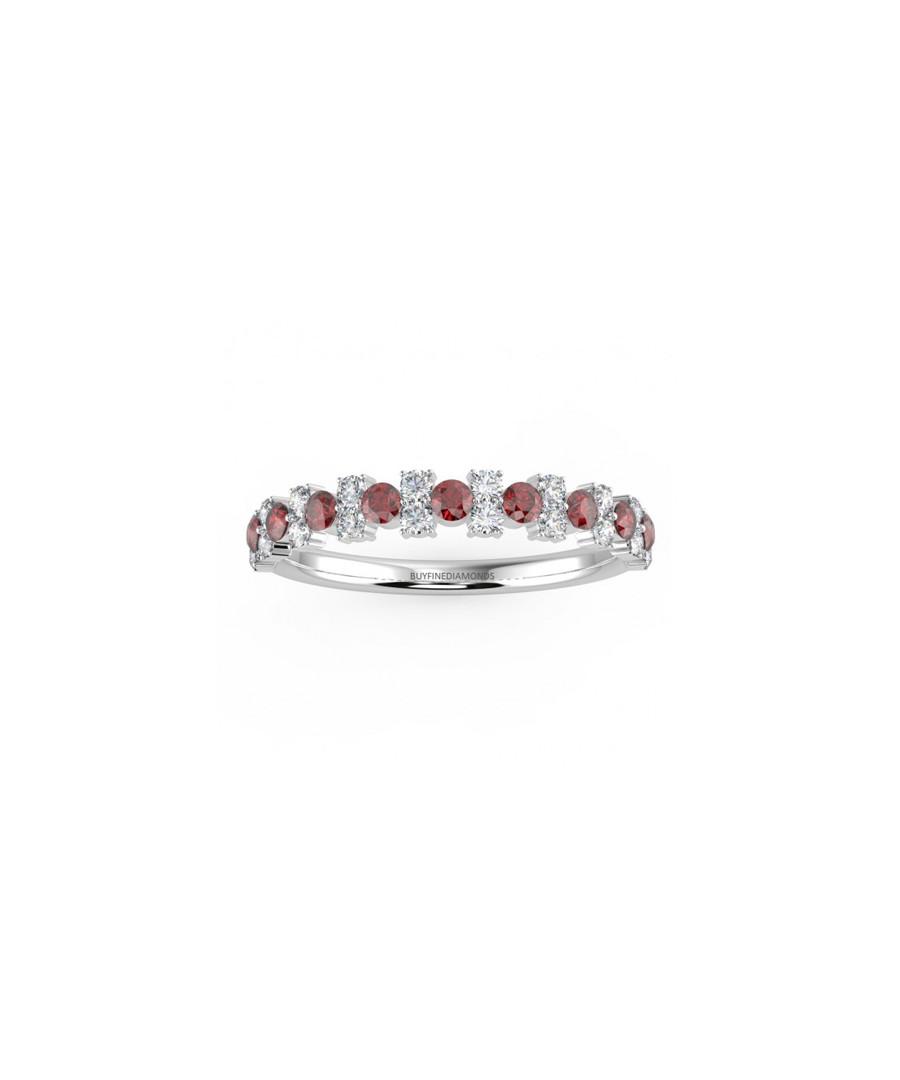 0.5ct ruby & diamond gold eternity ring Sale - Buy Fine Diamonds