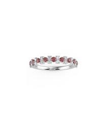 0.5ct ruby & diamond gold eternity ring