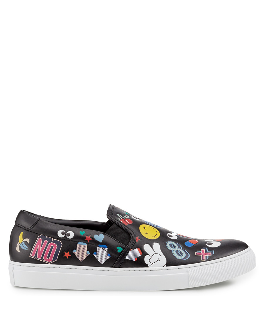All Over Wink Black nappa sneakers Sale - anya hindmarch
