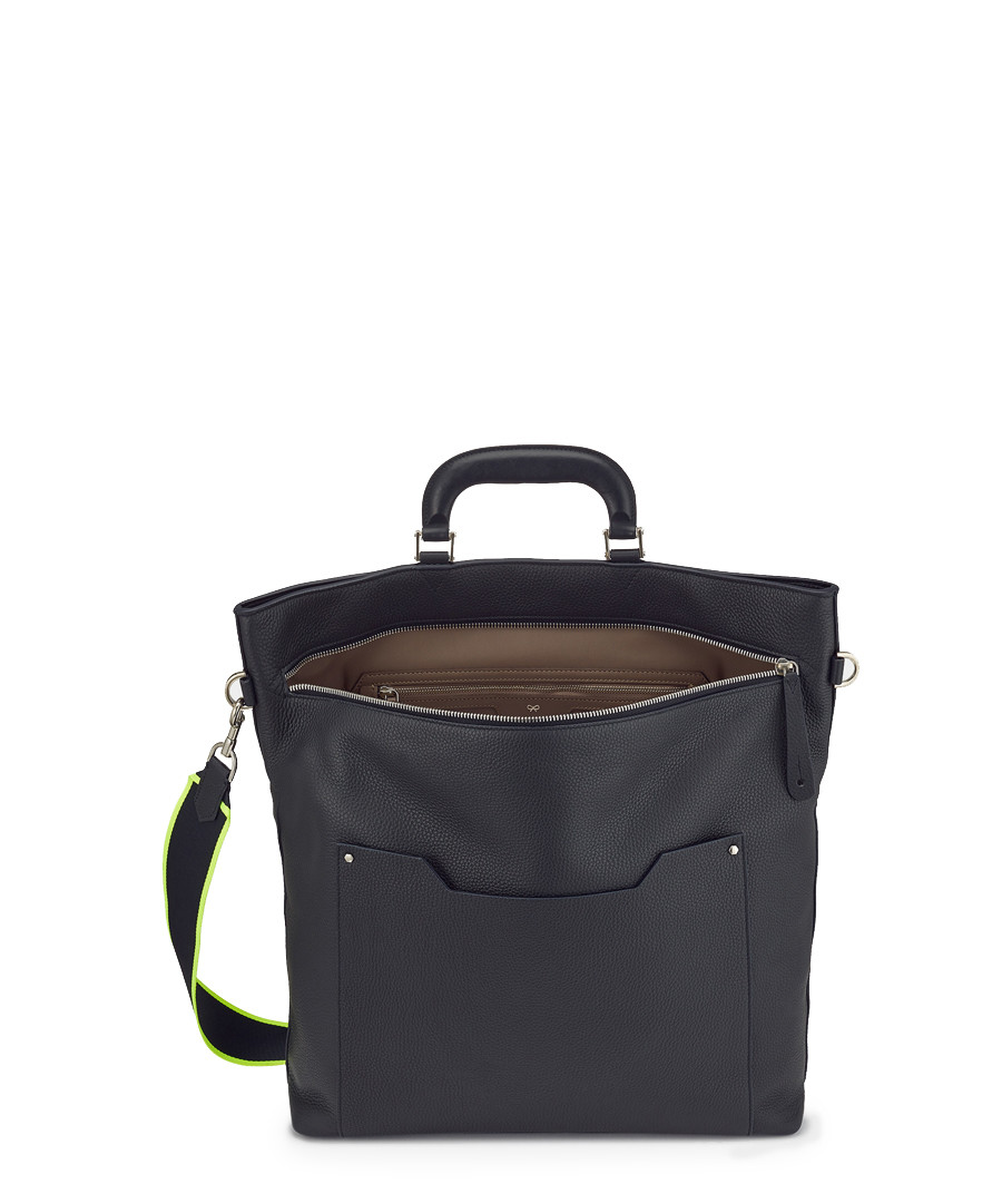Orsett navy leather grab bag Sale - anya hindmarch