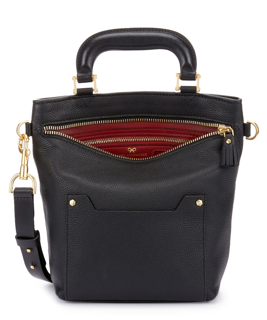 Orsett black leather grab bag Sale - anya hindmarch be07c42075d5d