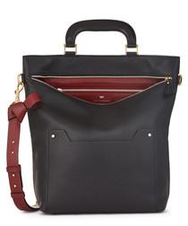 Orsett black leather grab bag