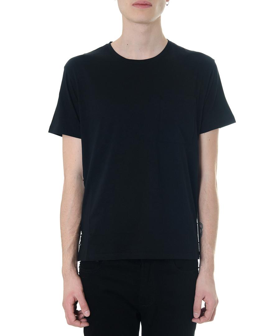 Black pure cotton untitled T-shirt Sale - valentino