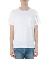 White pure cotton untitled T-shirt