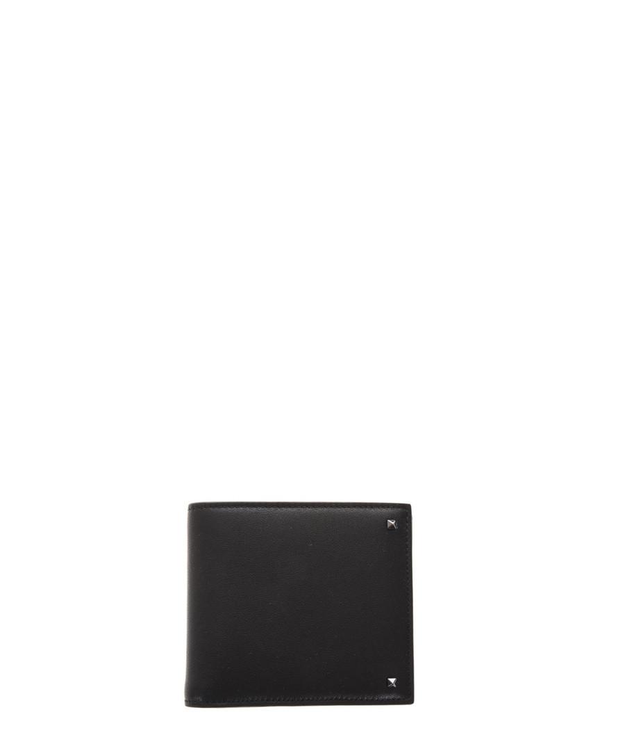 Black leather rockstud wallet Sale - valentino garavani