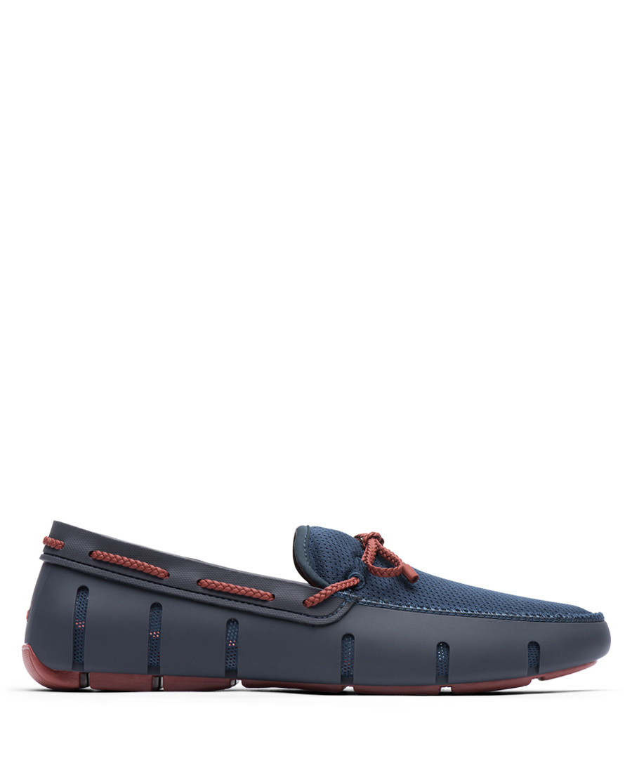 Navy braid lace loafers Sale - swims