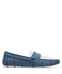 Breeze Penny blue mesh loafers
