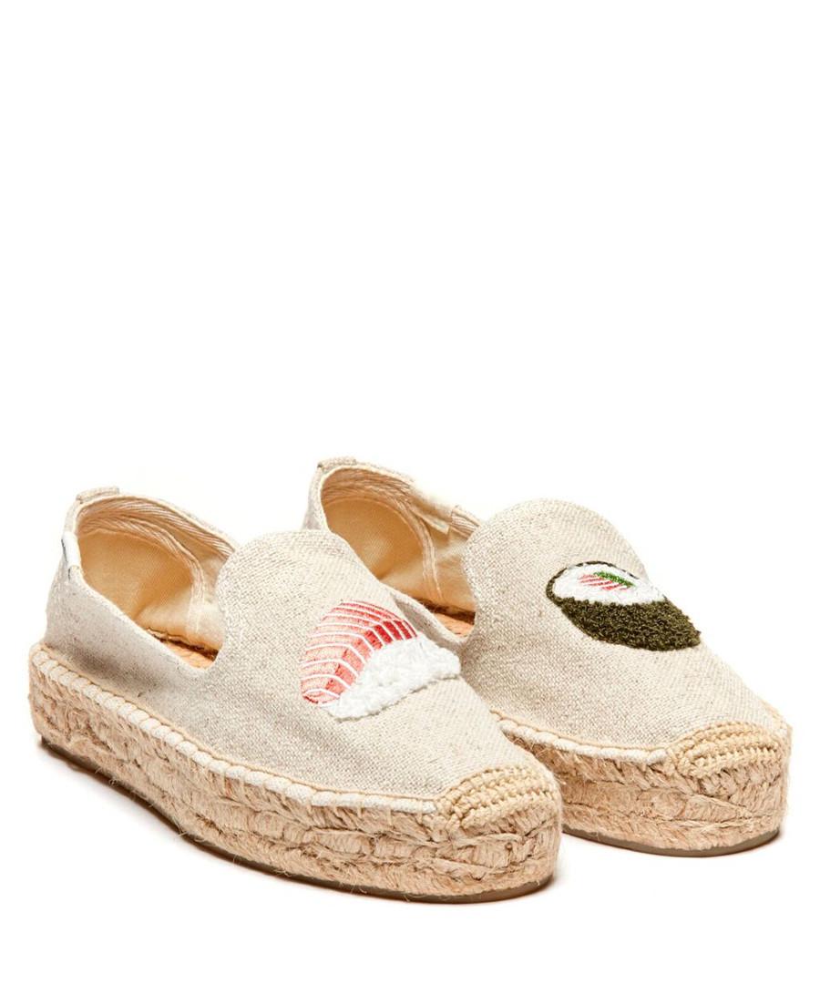 Sand pure cotton sushi espadrilles Sale - SOLUDOS