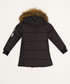 Girls' black hooded quilted coat Sale - Dewberry Sale