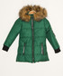Girls' green hooded quilted coat Sale - Dewberry Sale