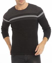 Antrasit black cotton blend jumper