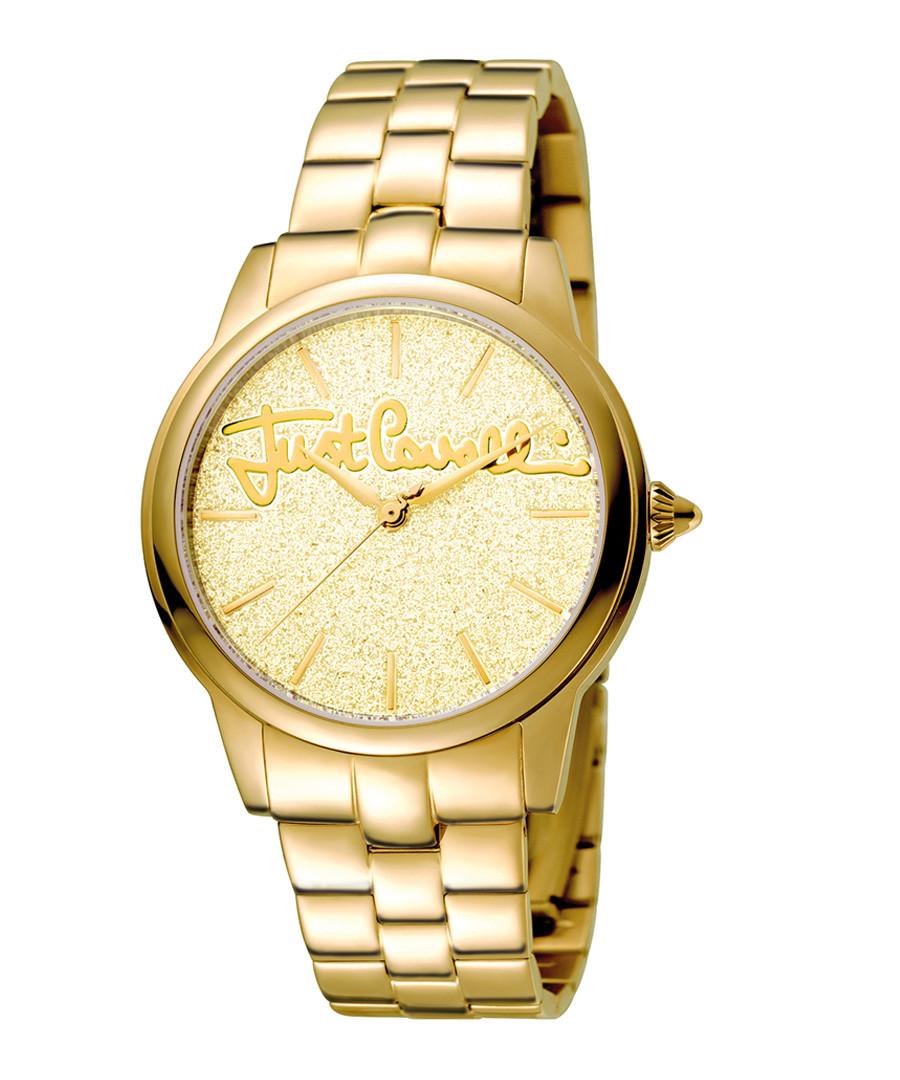Gold-tone glitter dial watch Sale - just cavalli