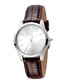Silver-tone & brown leather watch Sale - JUST CAVALLI Sale