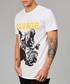 Black pure cotton savage print T-shirt Sale - criminal damage Sale