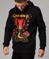 Black pure cotton python print hoodie Sale - criminal damage Sale