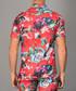 Red short sleeve floral button shirt Sale - criminal damage Sale