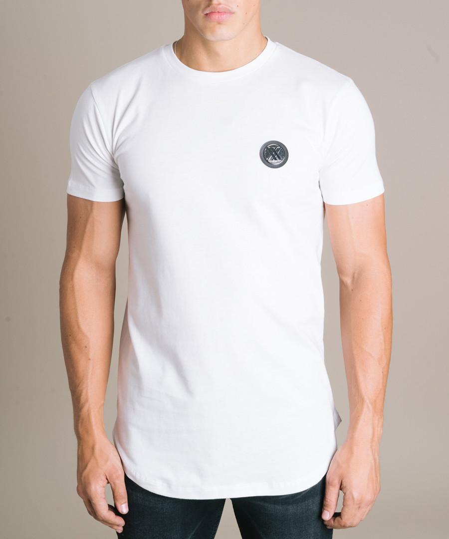 White pure cotton branded T-shirt Sale - criminal damage double x