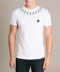 White pure cotton  lightning T-shirt