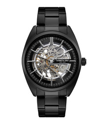 Gunmetal stainless steel & black watch