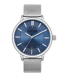 Stainless steel mesh & navy watch