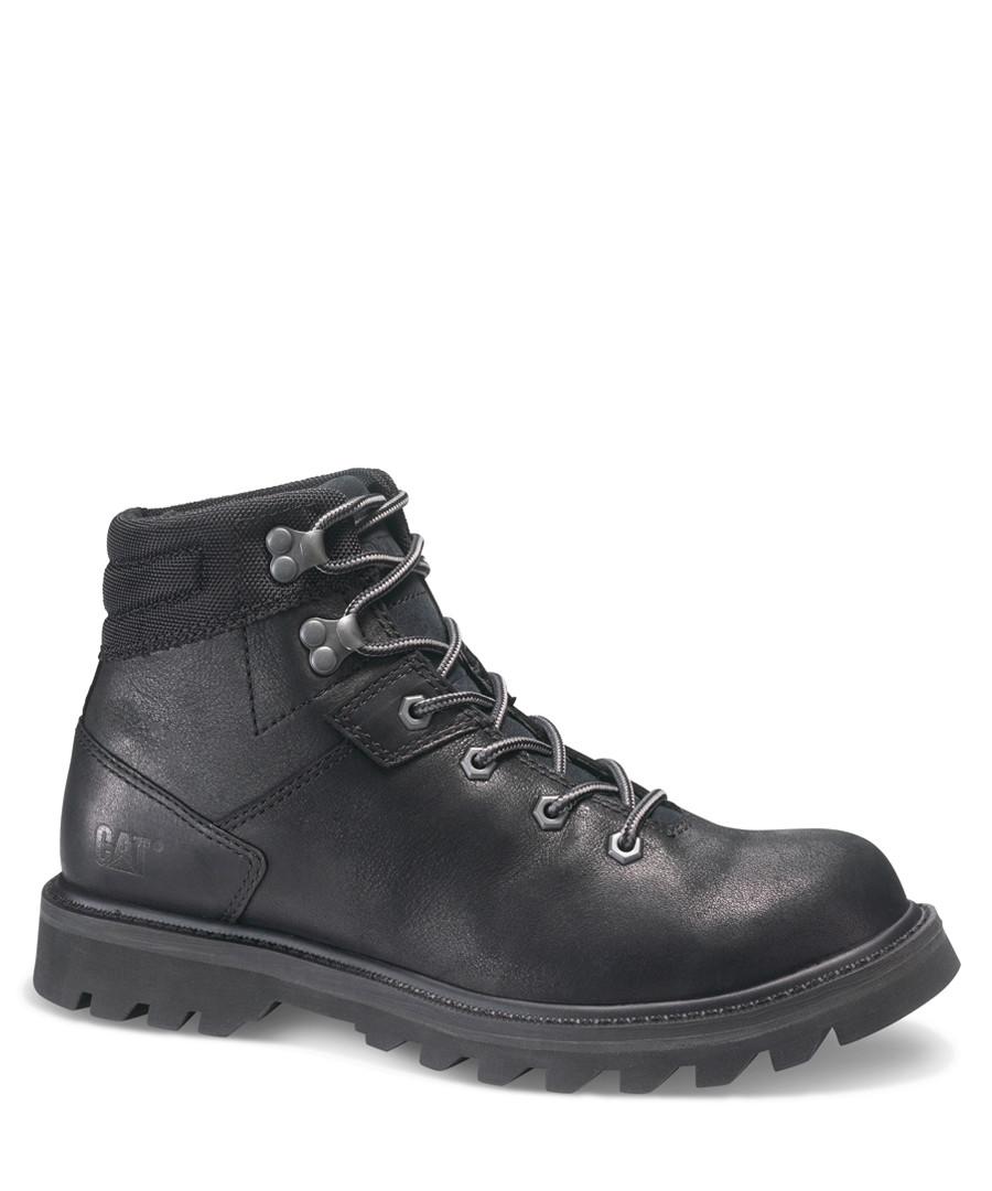 Exigent black leather lace-up boots Sale - cat