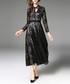 Black lace long sleeve midi dress Sale - Kaimilan Sale