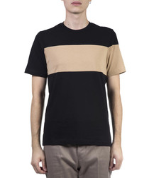 Black & tan pure cotton T-shirt