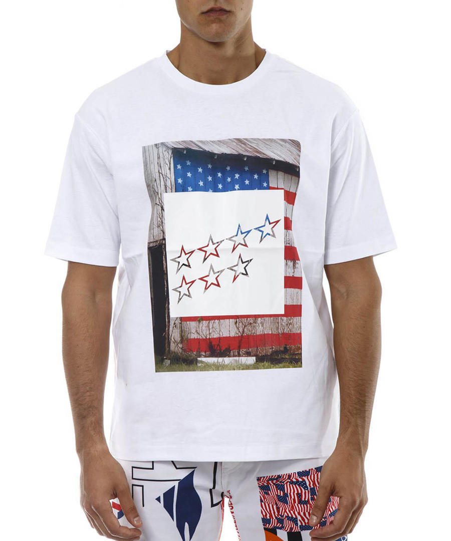 White pure cotton stars T-shirt Sale - CALVIN KLEIN JEANS
