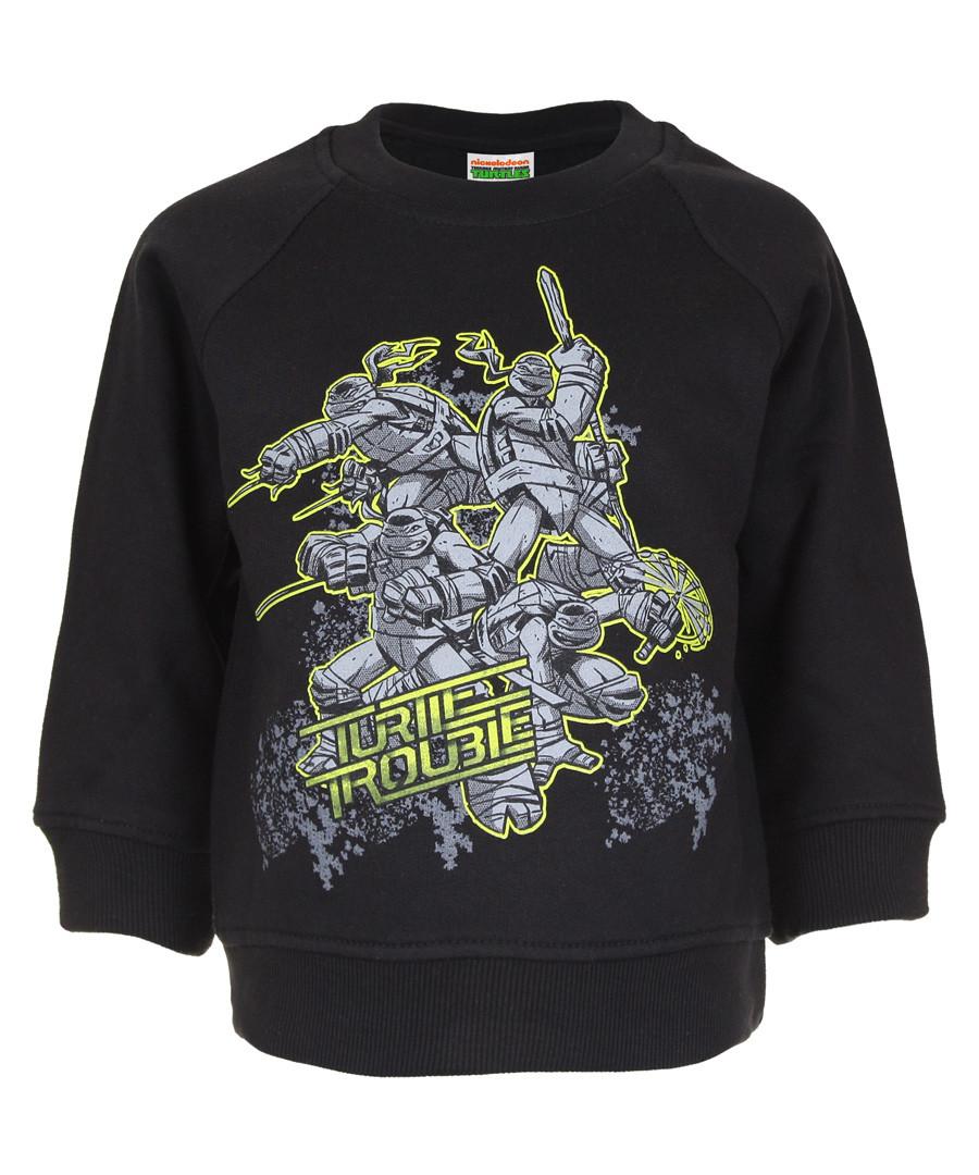 Turtles black cotton blend jumper Sale - KIDS CHARACTER CLUB