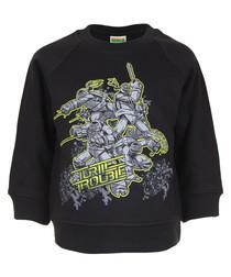 Turtles black cotton blend jumper