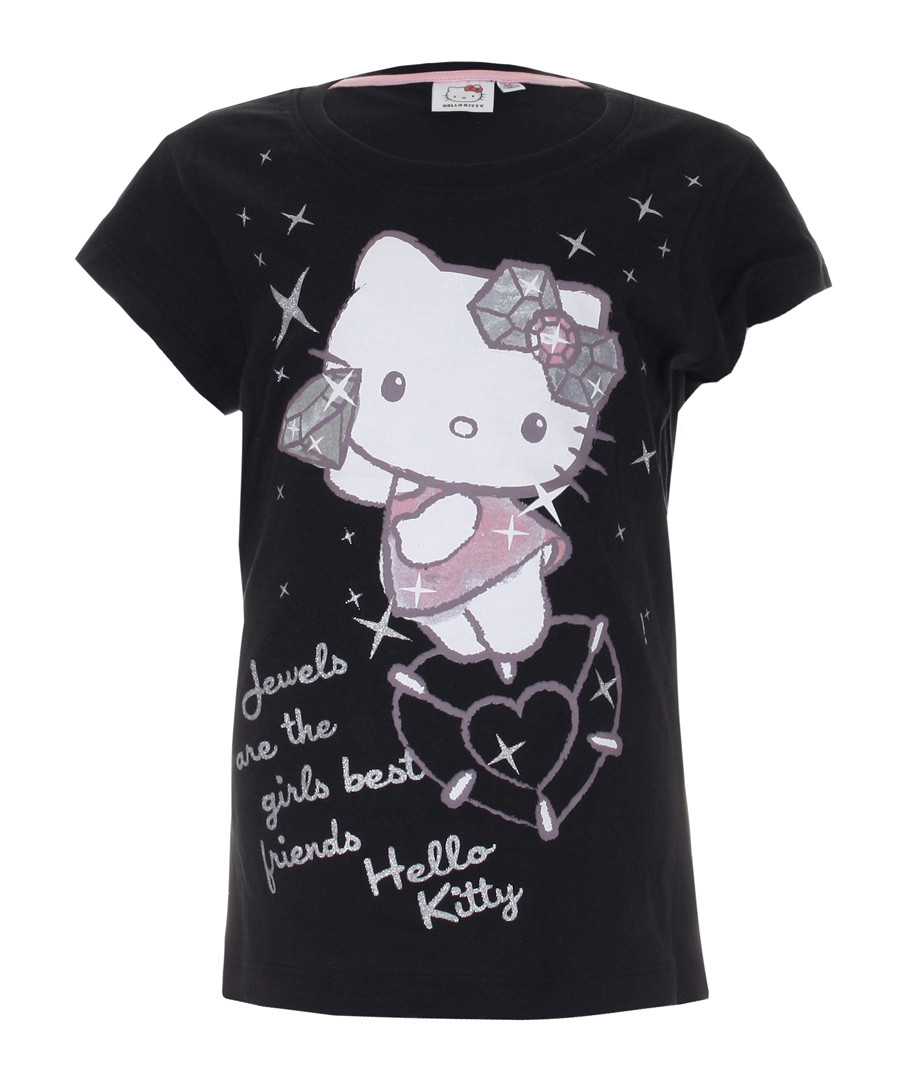 Hello Kitty black pure cotton T-shirt Sale - KIDS CHARACTER CLUB