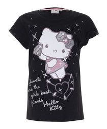 Hello Kitty black pure cotton T-shirt