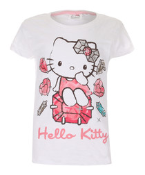 Hello Kitty white pure cotton T-shirt