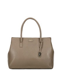 hadley dark taupe brown leather handbag