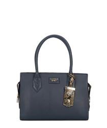 Mini Betsy navy leather grab bag