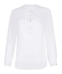 Maria white dragonfly print blouse