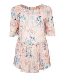 Erica multi-colour cold-shoulder blouse