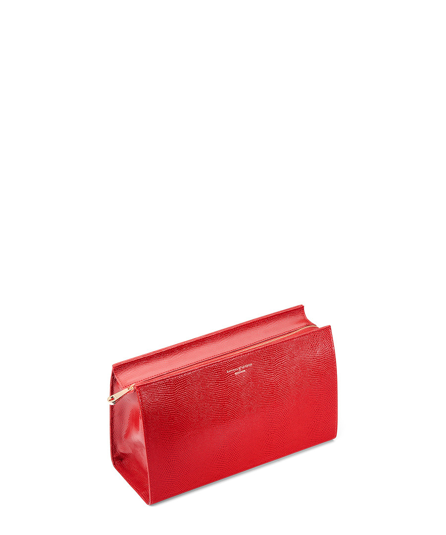 Red leather zip coin purse Sale - Aspinal Of London