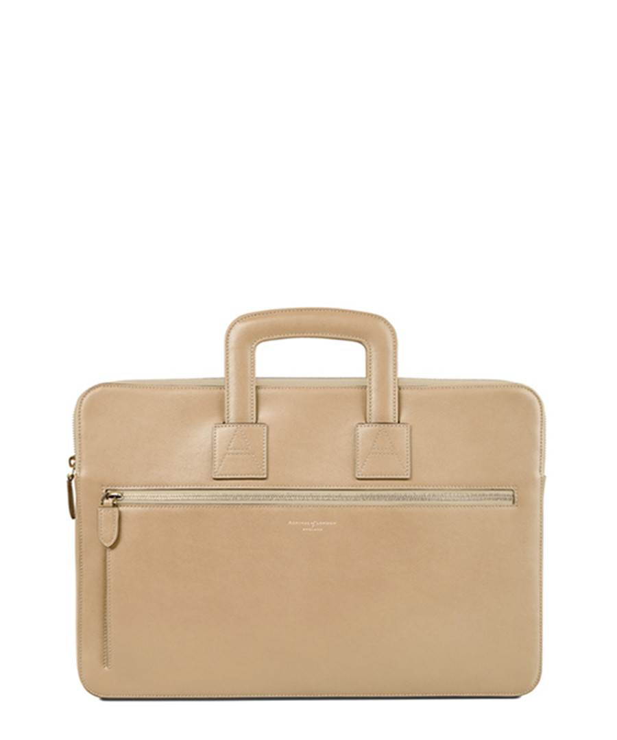 Cream leather grab bag Sale - Aspinal Of London
