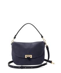 Navy nubuck leather strap grab bag