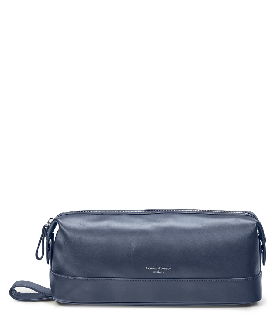 Navy leather zip make-up purse Sale - Aspinal Of London